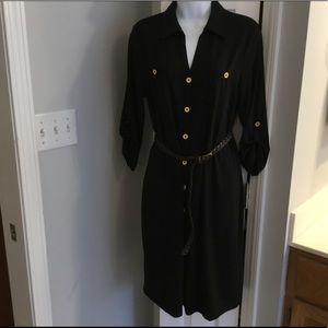 Dress with leather belt ( Peck & Peck Weekend)